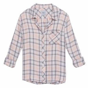 Rails Hunter pink/gray plaid long sleeve shirt XS